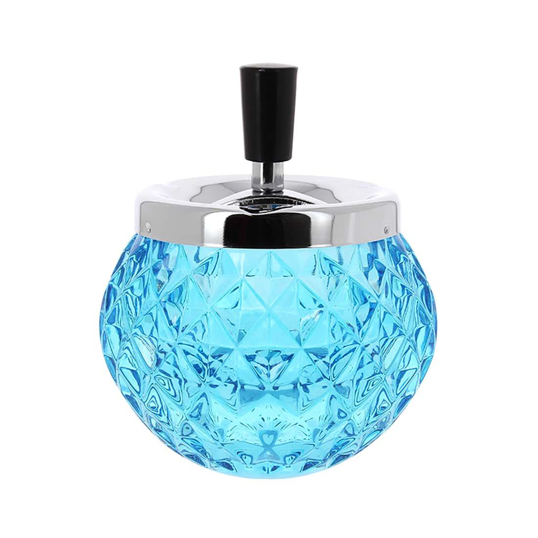 Photo de Cendrier extérieur verre bleu