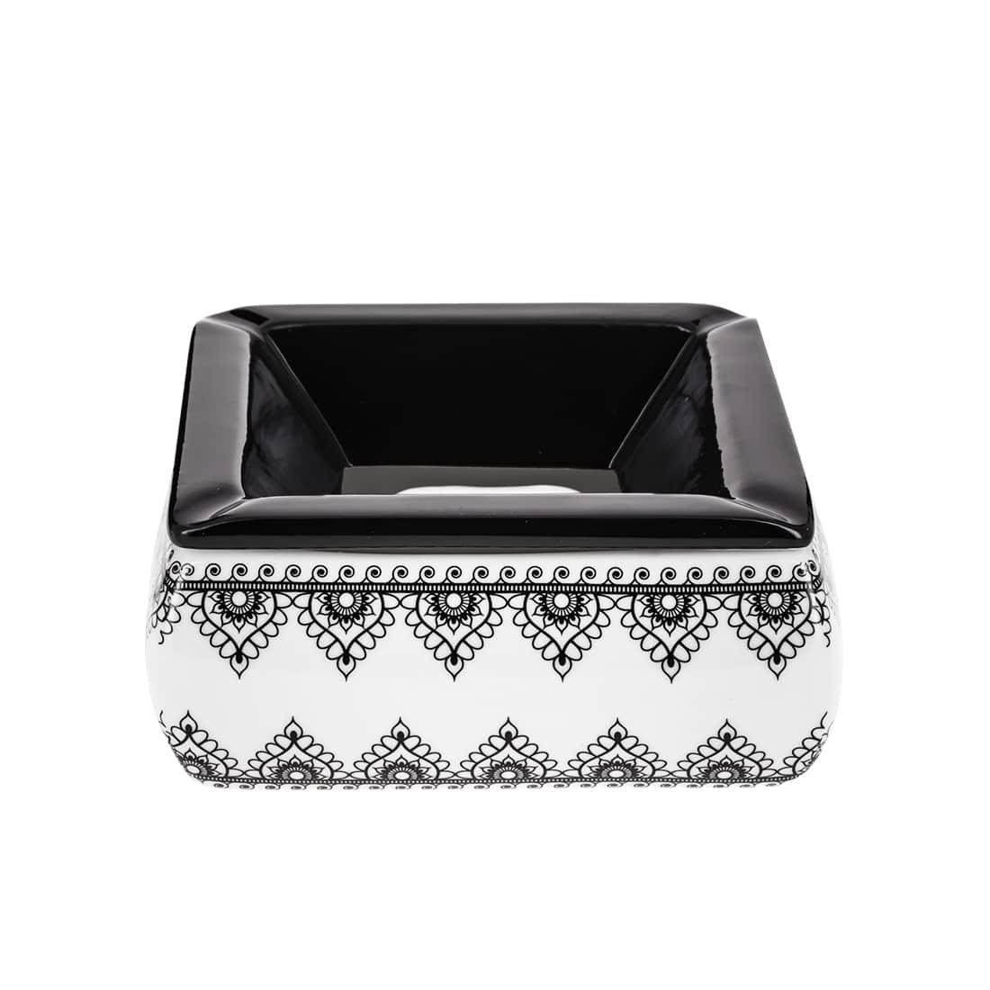 Photo de Cendrier Marocain Arabesques Noir et Blanc modèle 1