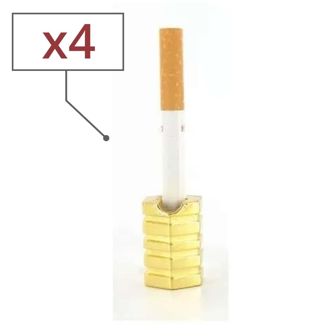 Photo de Etouffoirs à cigarettes Hexagone Doré x4