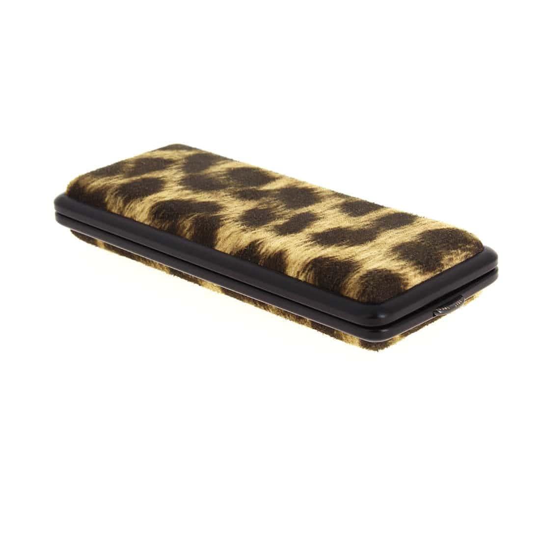 Photo de Etui Cigarette noir leopard 100's