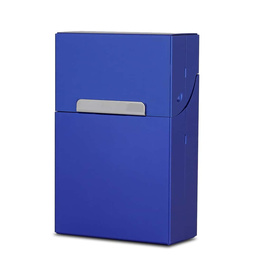 Photo de Etui cigarettes  Aluminium Bleu