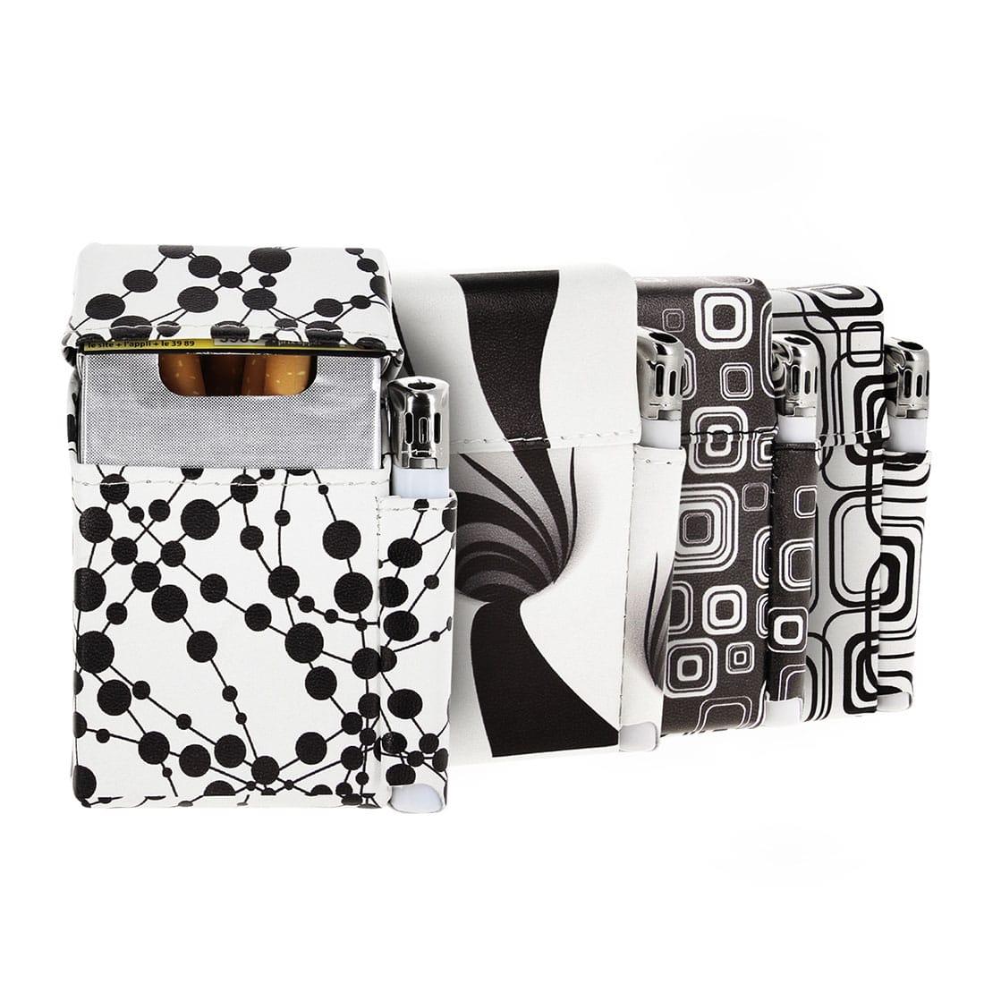 Photo de Etui paquet cigarette et briquet noir et blanc