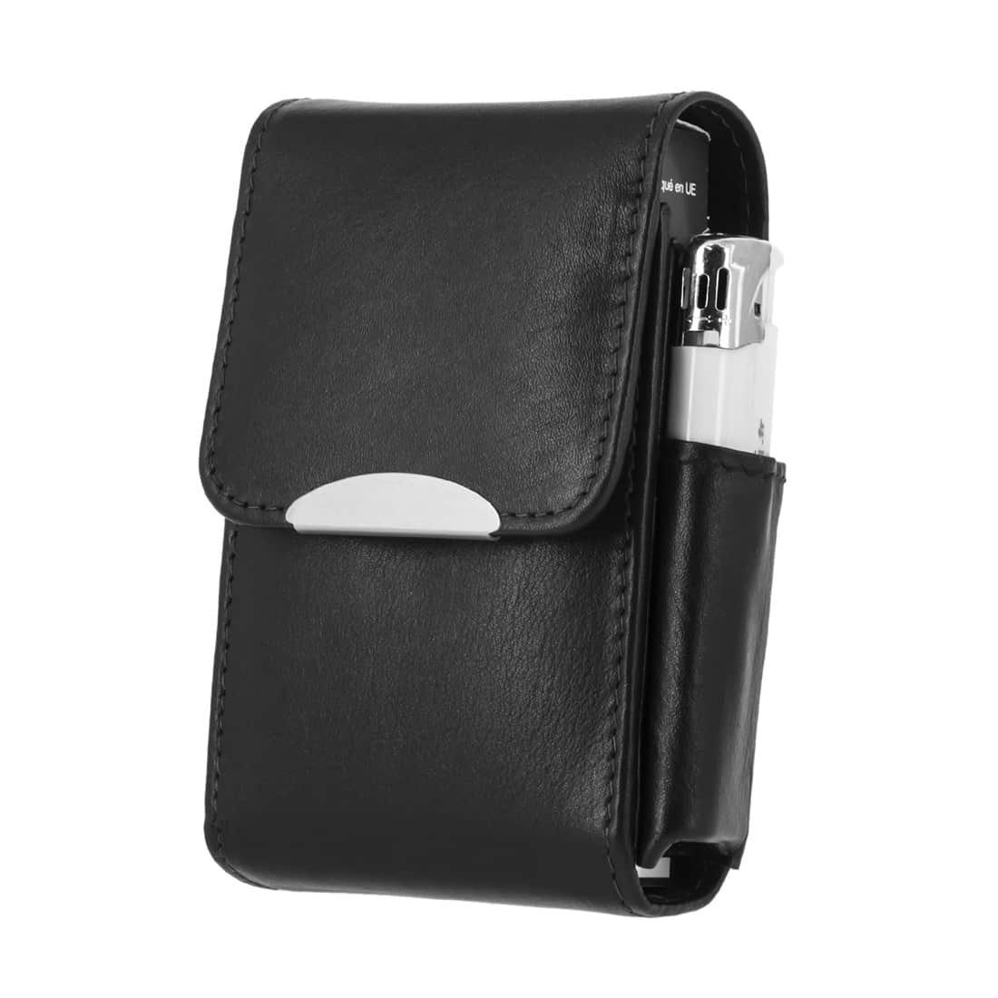 Photo de Etui paquet de cigarettes et Briquet CC049 Noir Chacom