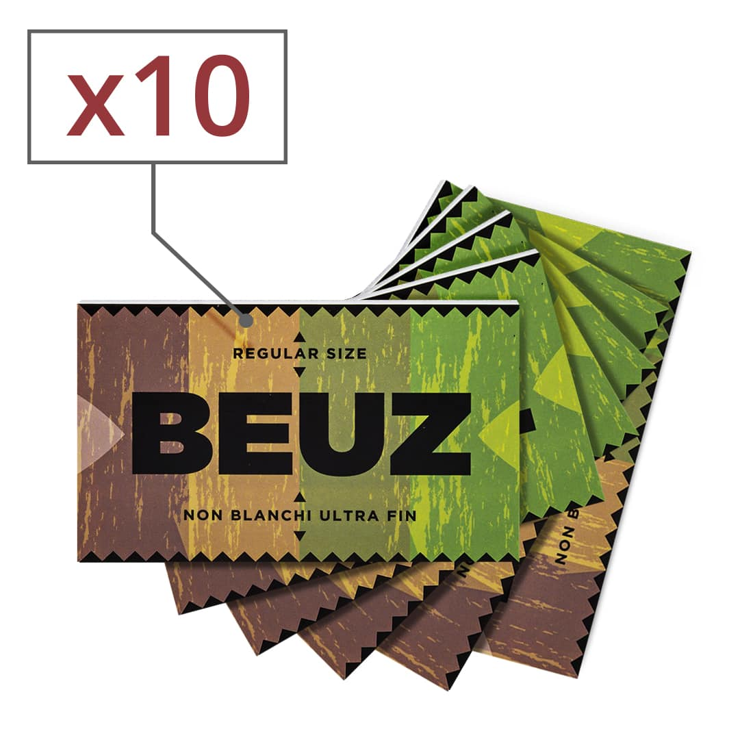 Photo de Papier a rouler Beuz Regular Brown x10