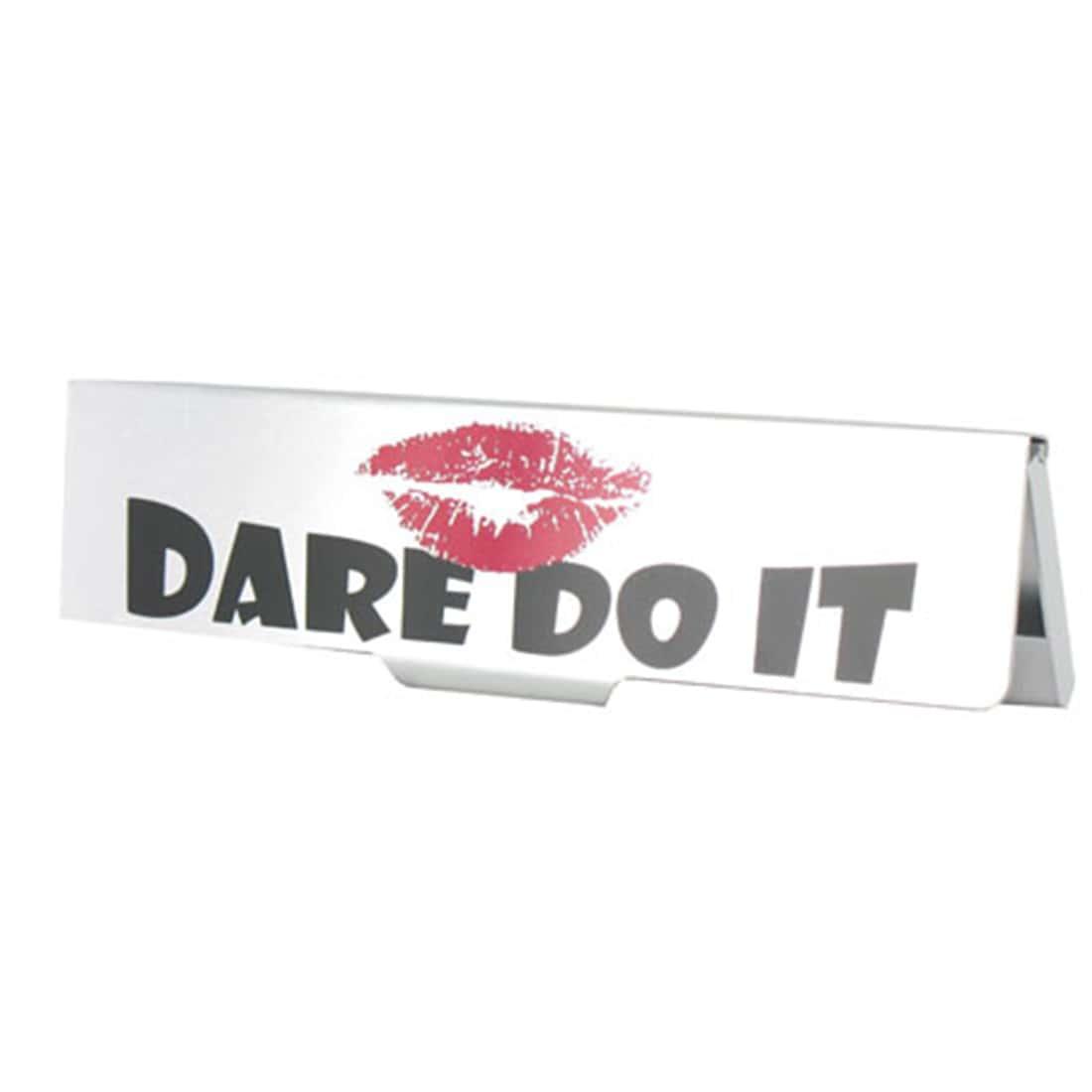 Photo de Etui pour papier à rouler slim 'Dare Do It'