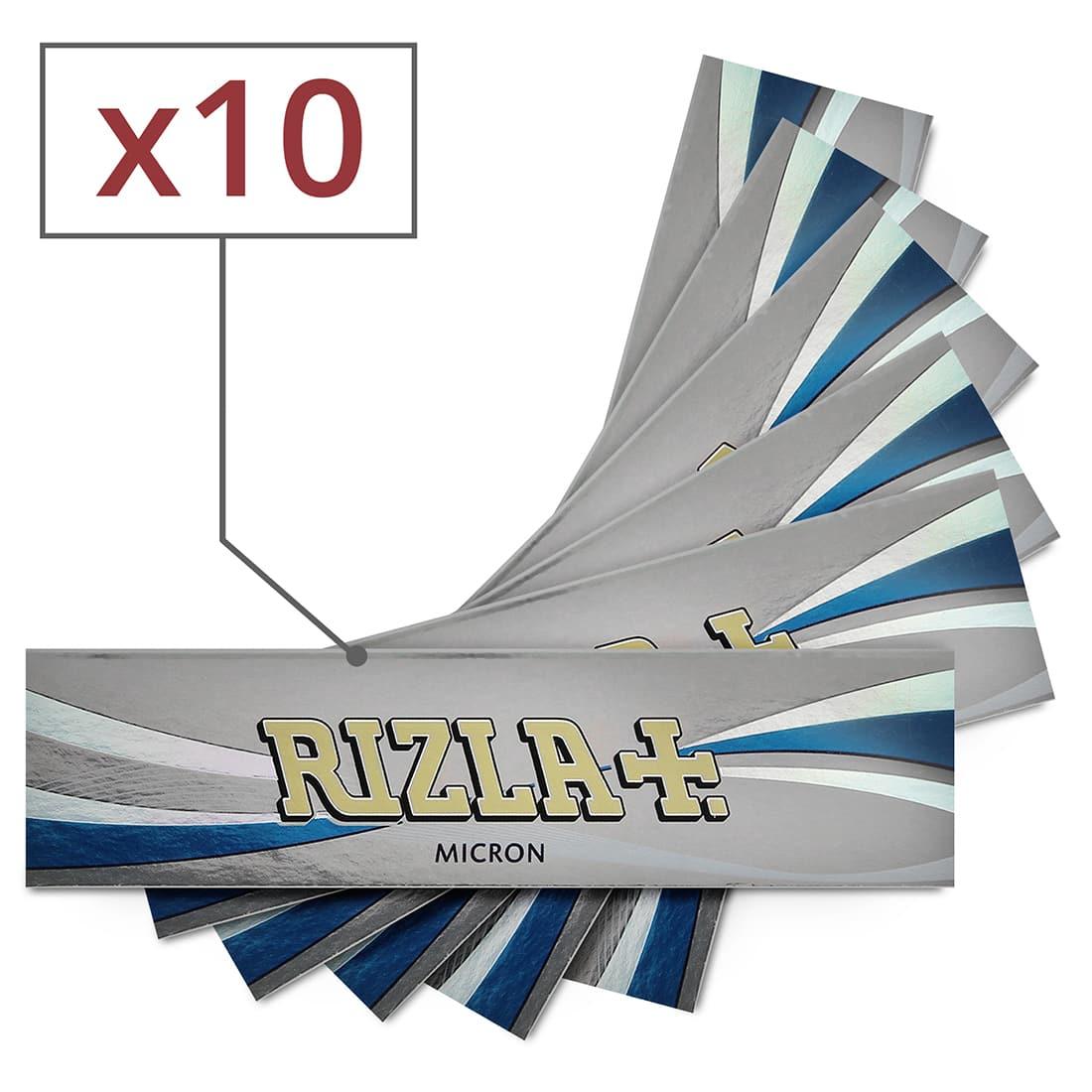 Photo de Papier à rouler Rizla + Micron slim x 10