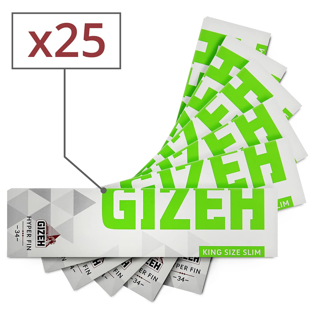 Photo de Feuille a rouler Gizeh Slim Hyper Fin x 25