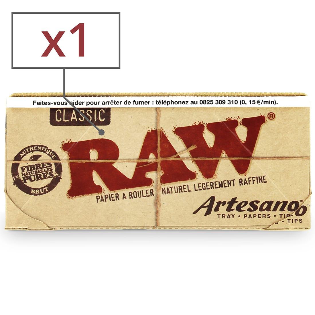 Photo de Feuille a rouler Raw Artesano Slim et Tips x 1