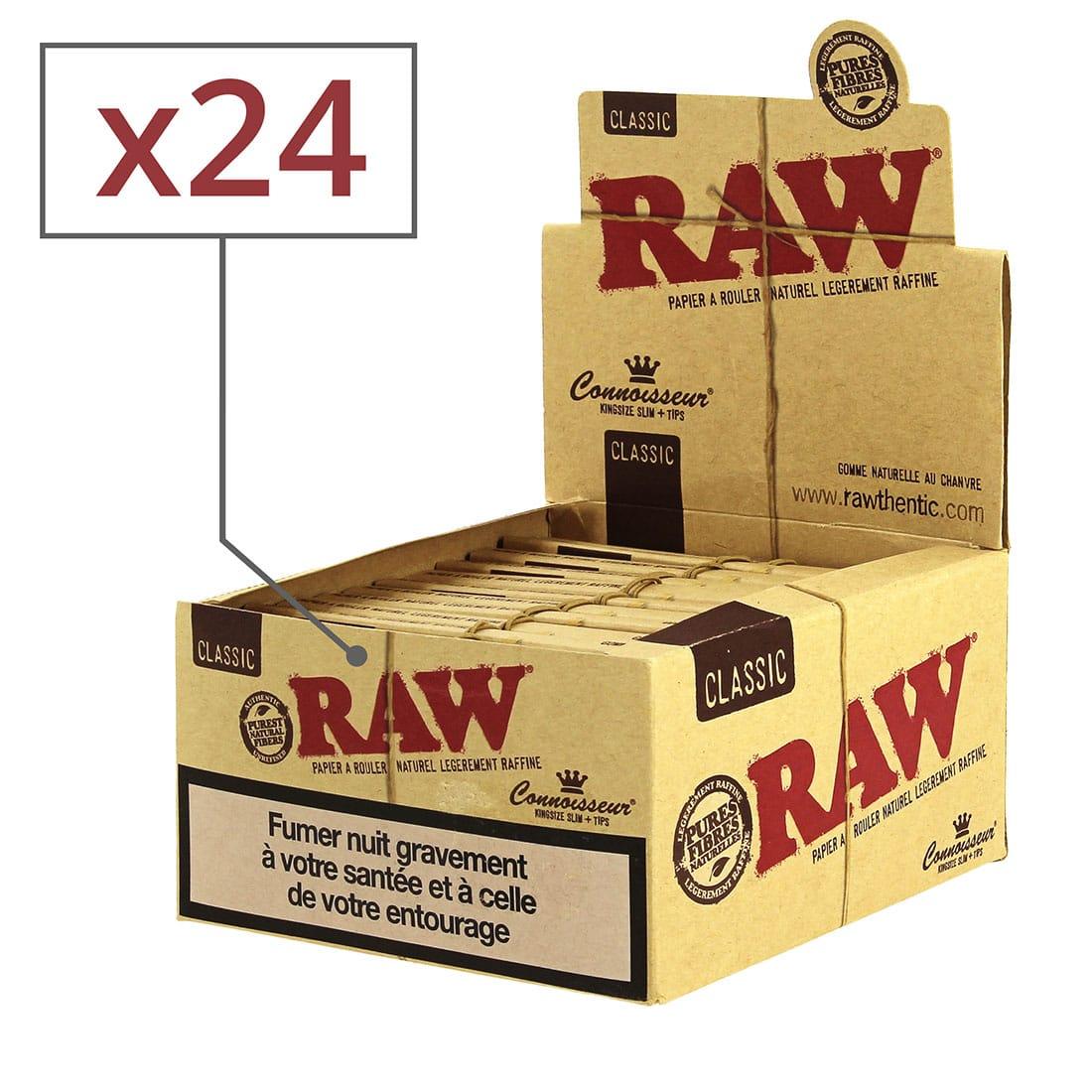 Photo de Papier à rouler Raw Slim + Tips x 24