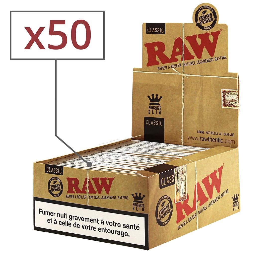 Photo de Papier à rouler Raw slim x50
