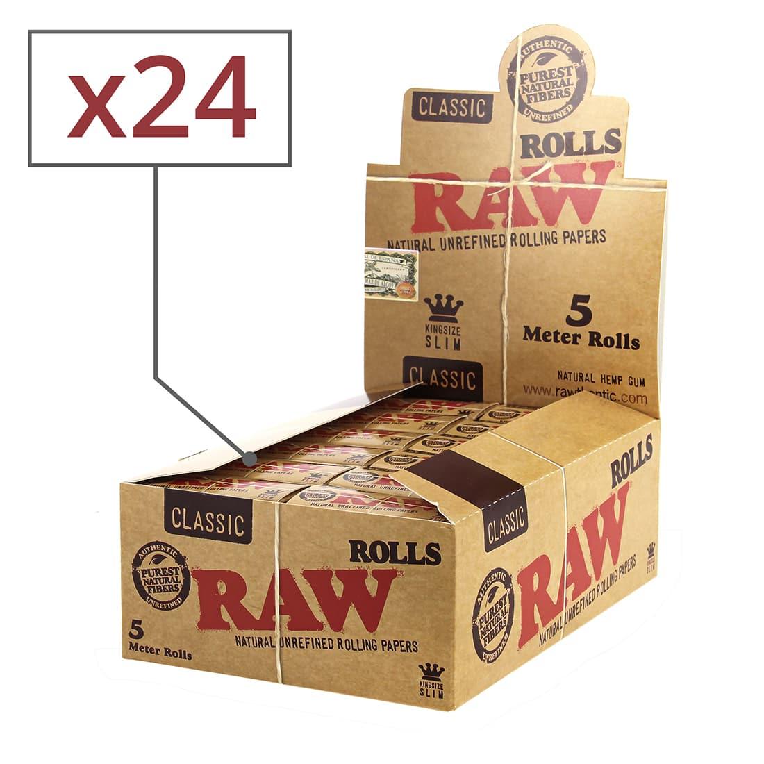 Photo de Papier a rouler Raw Rolls Slim x 24