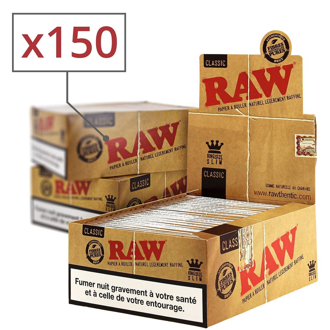 Photo de Papier à rouler raw slim x50 PACK de 3