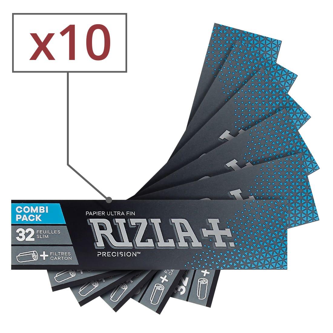 Photo de Papier à rouler Rizla + Precision Slim et Tips x 10