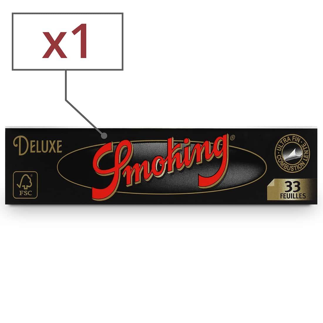 Photo de Papier à rouler Smoking Slim Deluxe noir x1