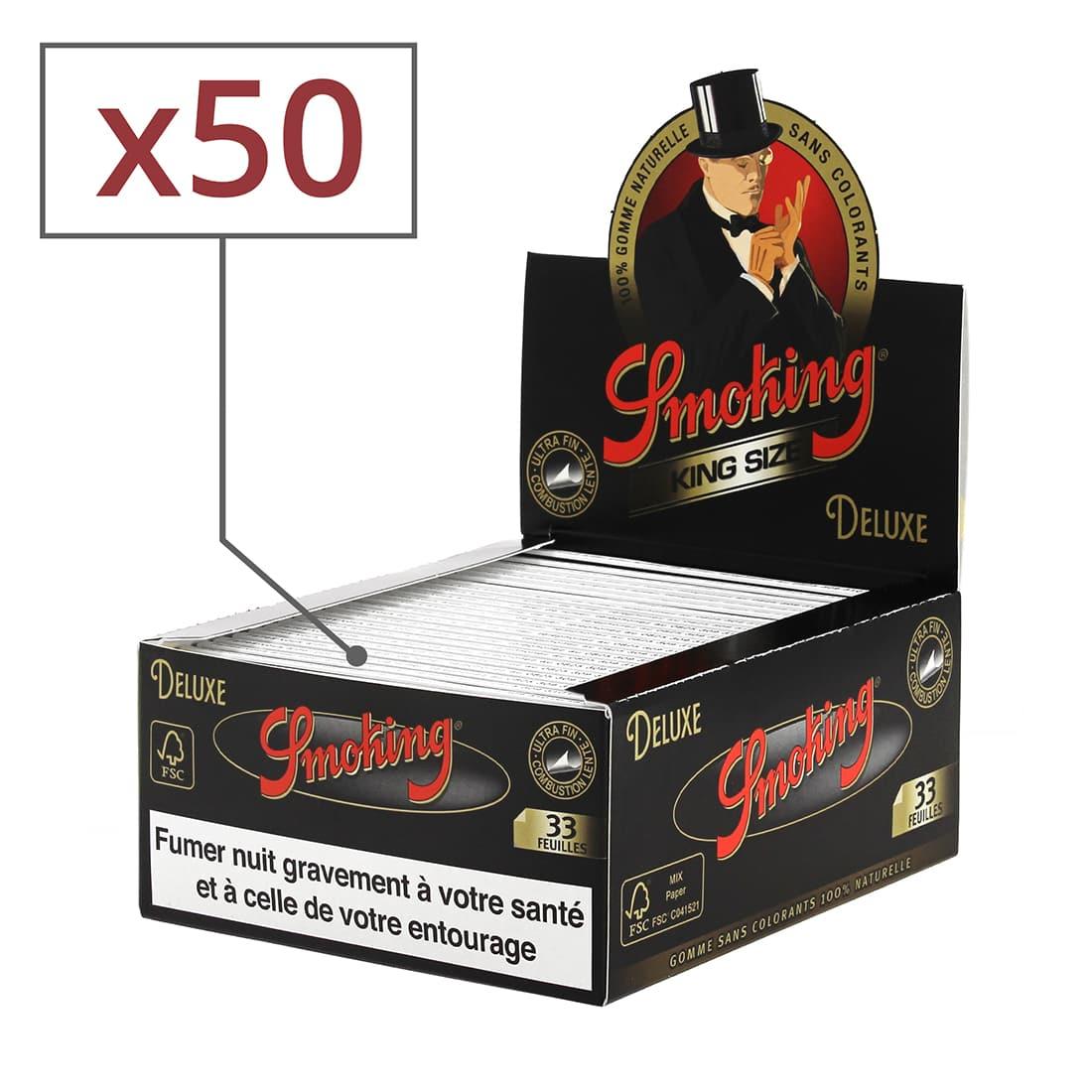 Photo de Papier à rouler Smoking Slim Deluxe noir x50