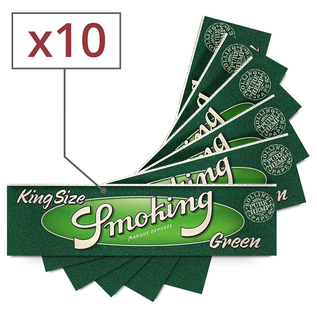 Photo de Papier à rouler Smoking Slim Green x10