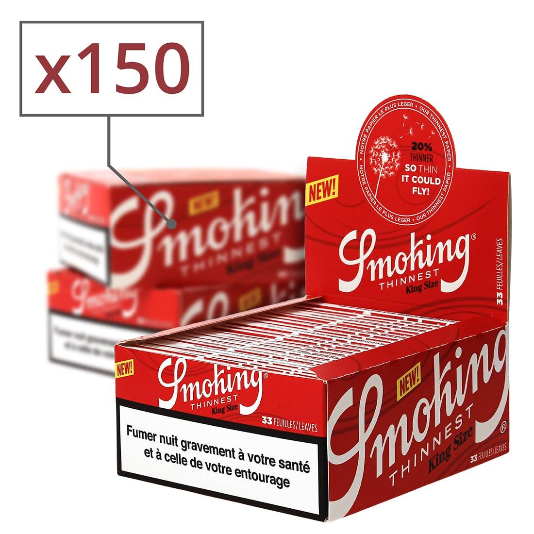 Photo de Feuille a rouler Smoking Thinnest King Size Slim x 50 PACK de 3
