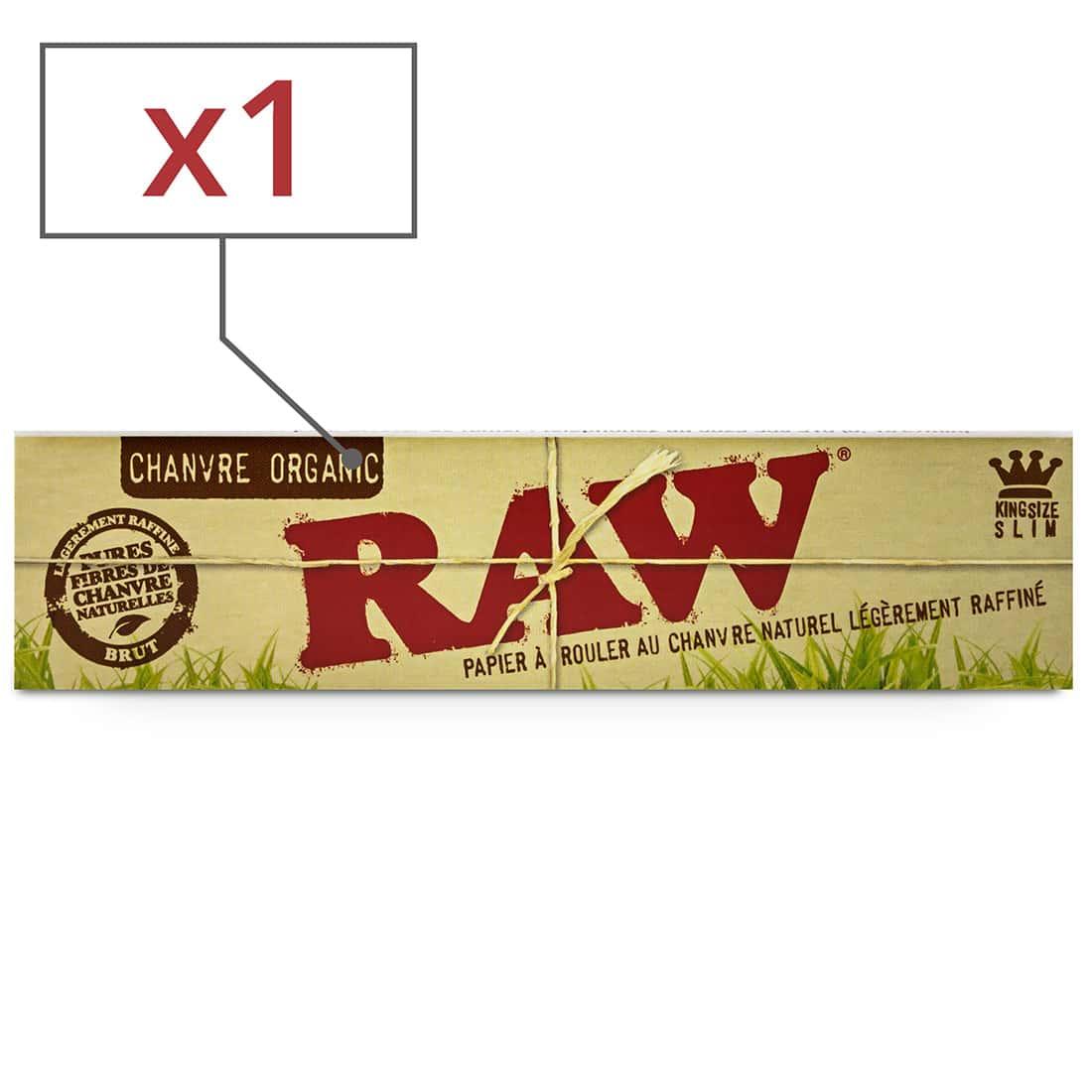 Photo de Papier à rouler Raw slim Organic x1