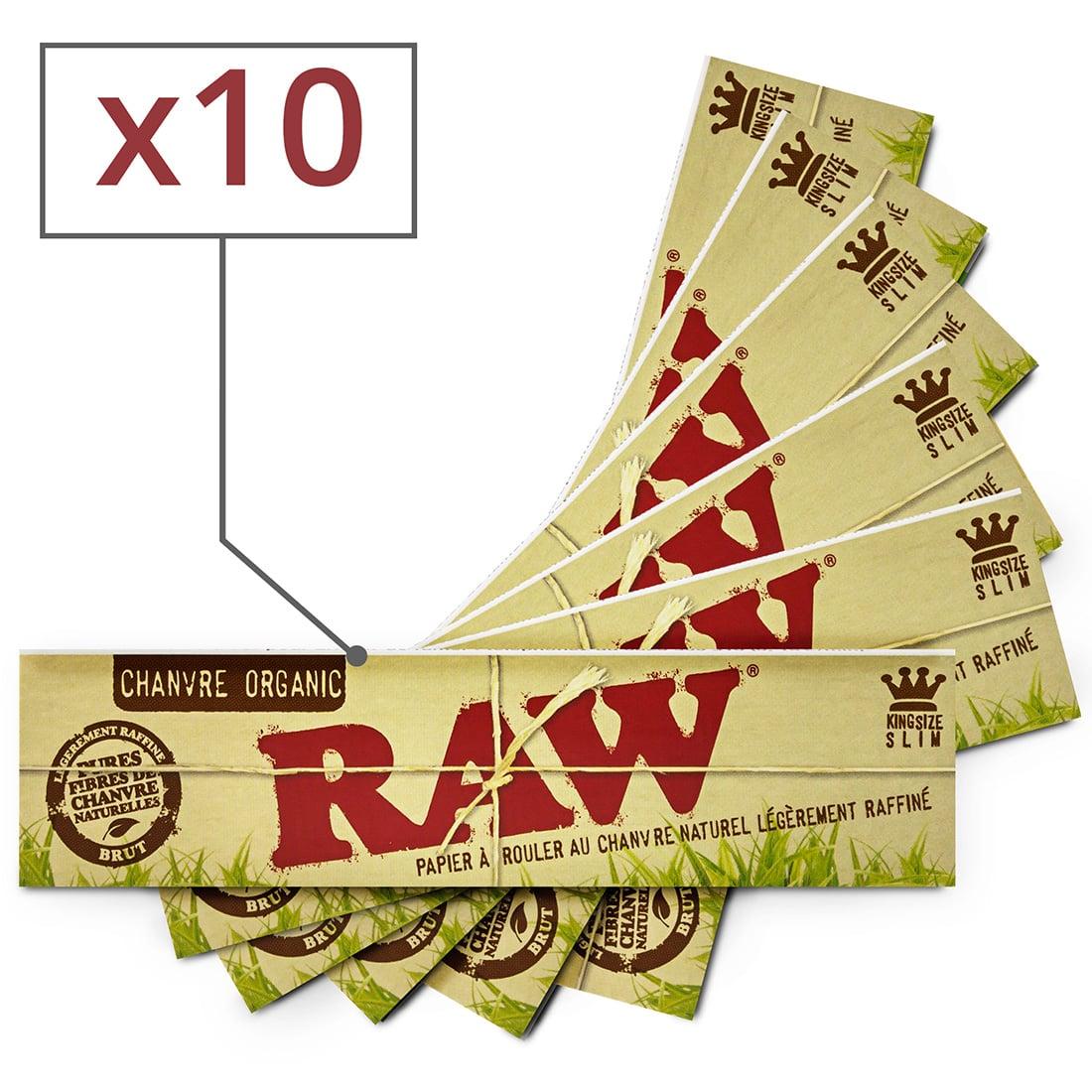 Photo de Papier à rouler Raw slim Organic x10