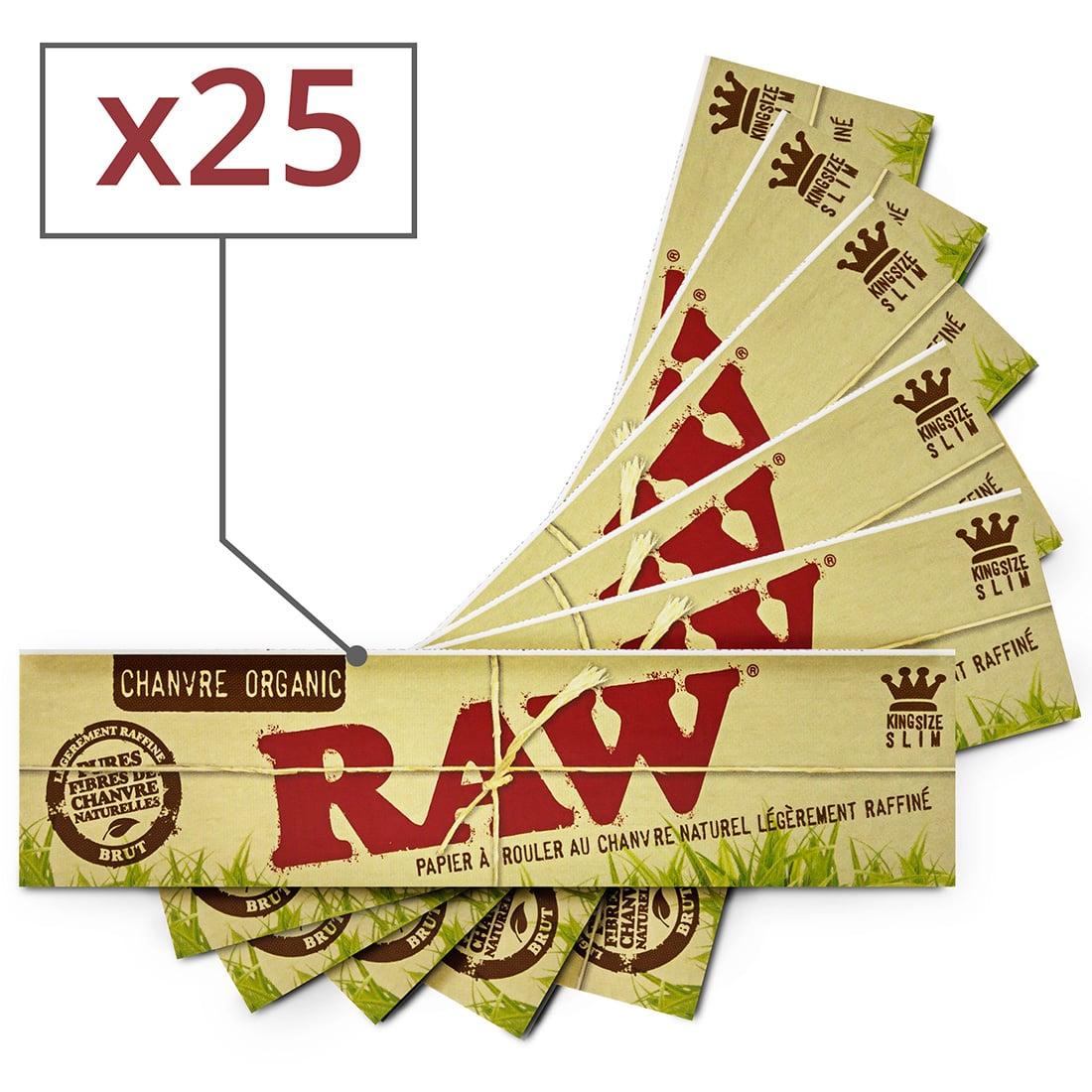 Photo de Papier à rouler Raw slim Organic x25