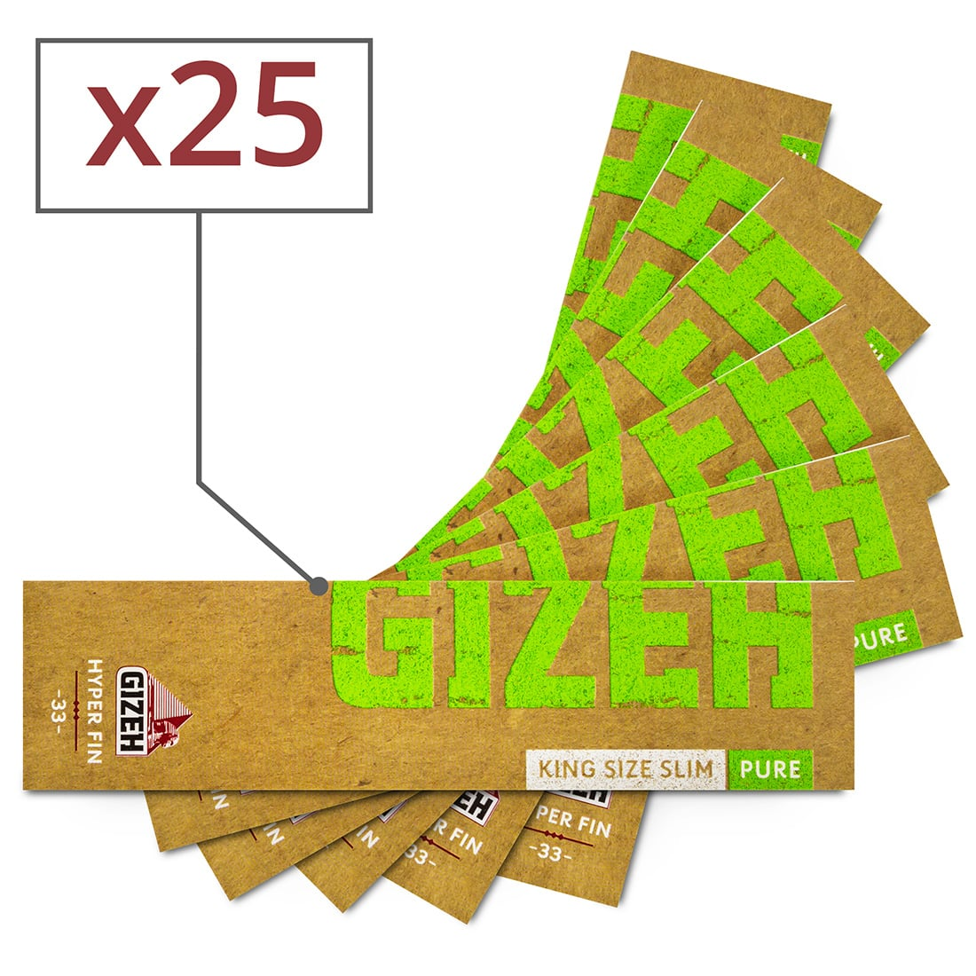 Photo de Papier à rouler Gizeh Slim Pure Hyper fin x 25