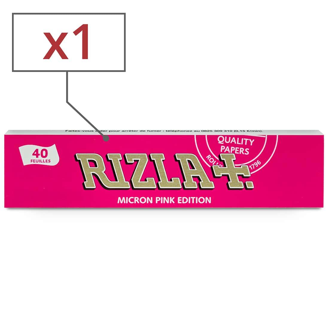 Photo de Papier à rouler Rizla + Micron Pink Slim x 1