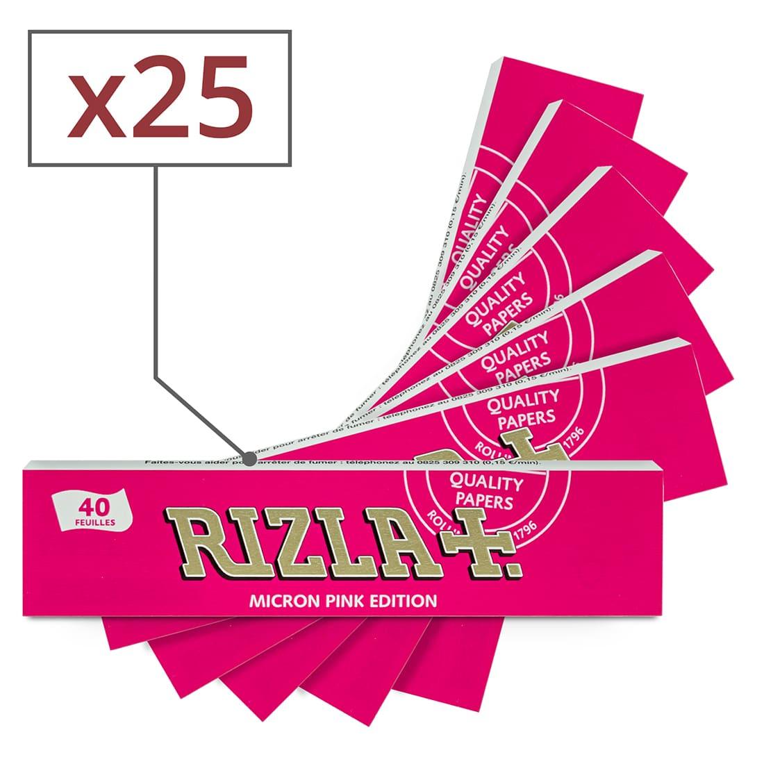Photo de Papier à rouler Rizla + Micron Pink Slim x 25