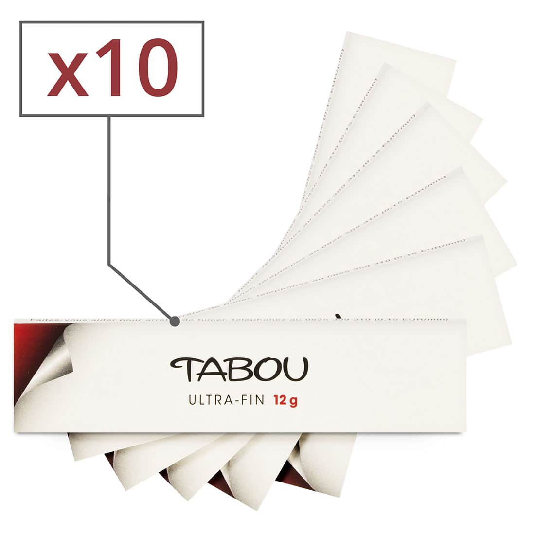 Photo de Feuille a rouler Tabou Slim Ultra Fin x 10