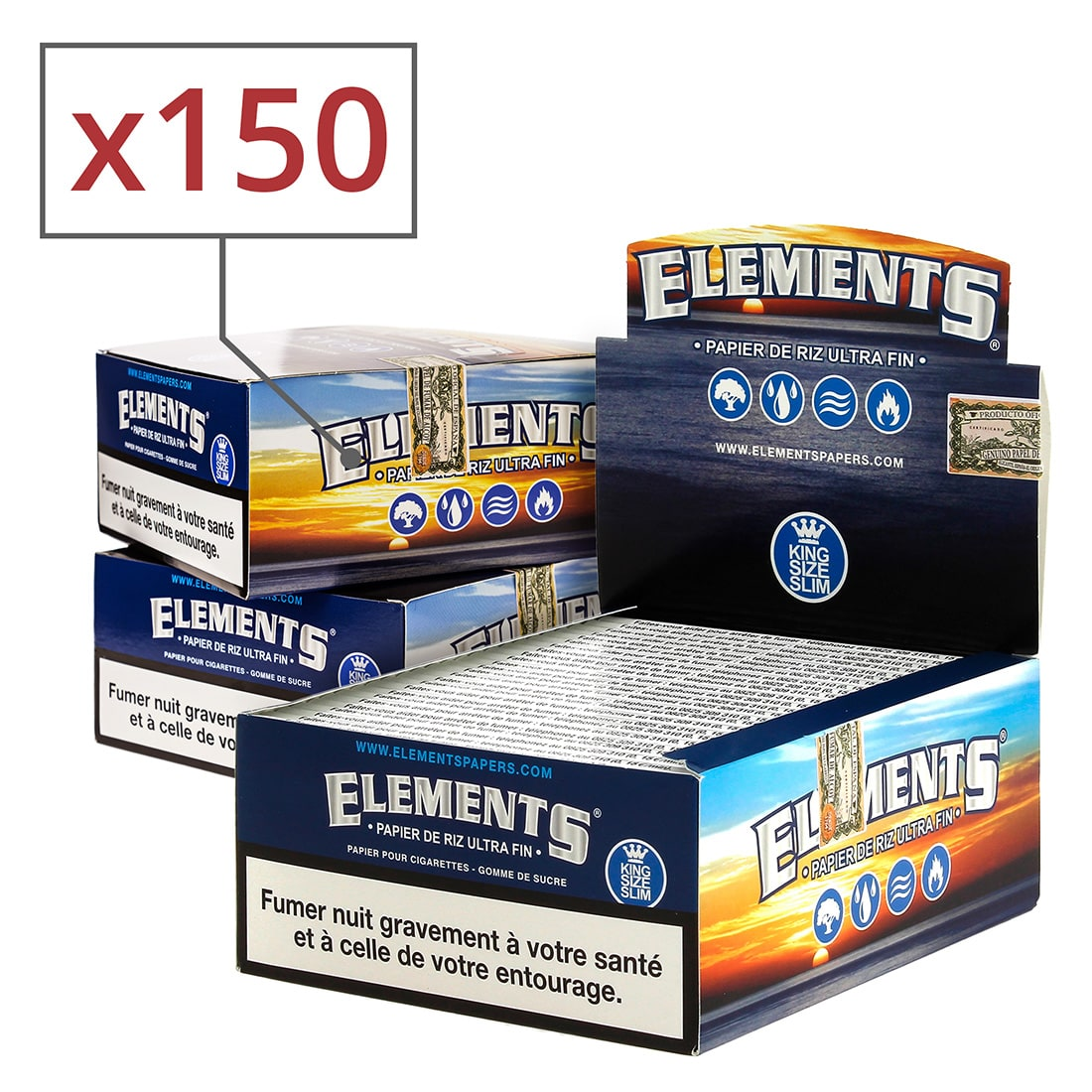 Photo de Papier à rouler Elements Slim x 50 PACK de 3