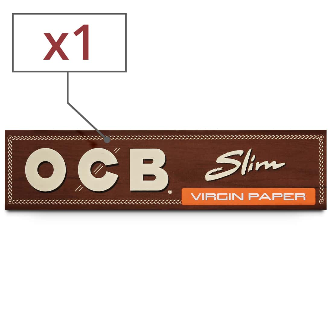Photo de Papier à rouler OCB Slim Virgin x 1