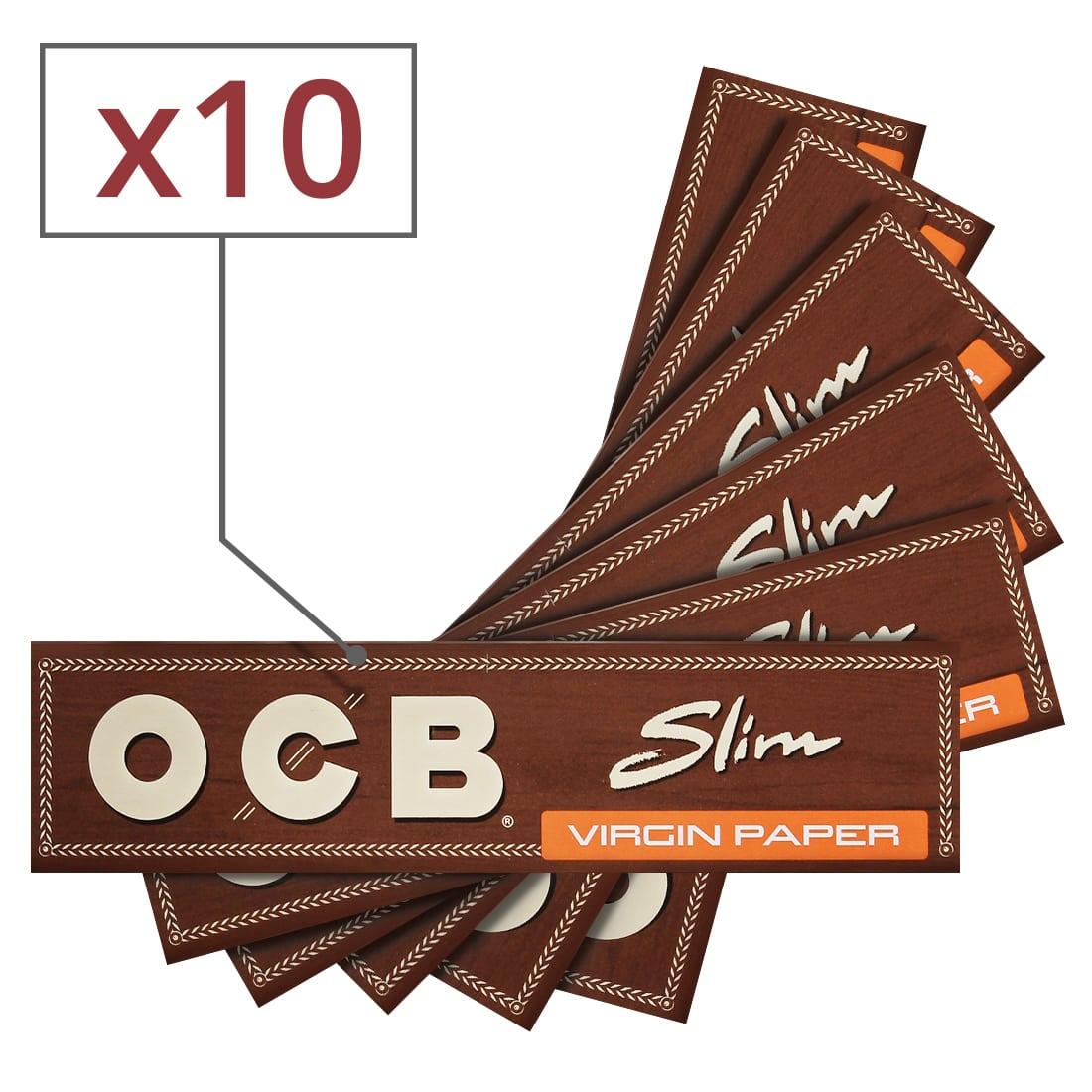 Photo de Papier à rouler OCB Slim Virgin x 10