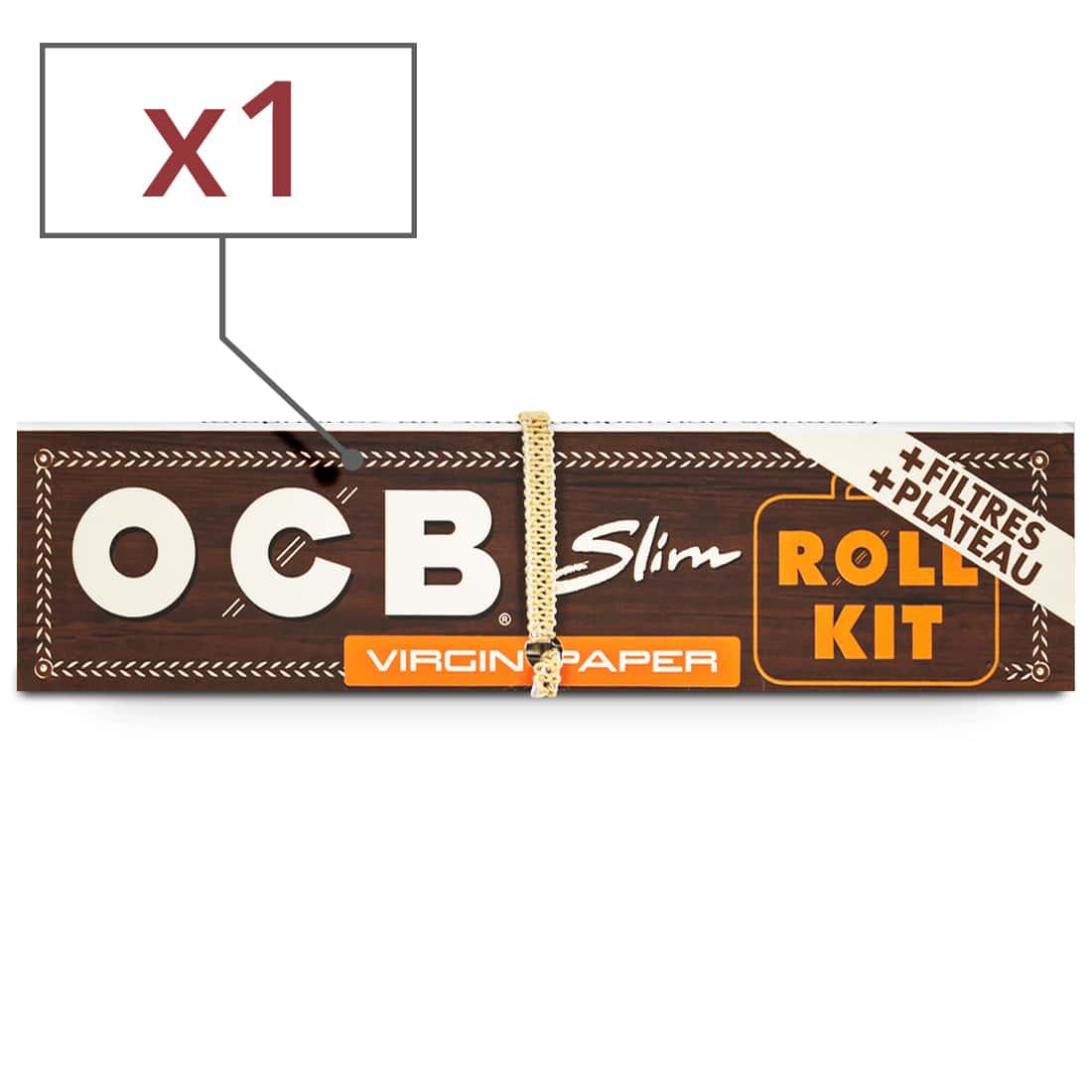 Photo de Papier à rouler OCB Slim Virgin Roll Kit x 1