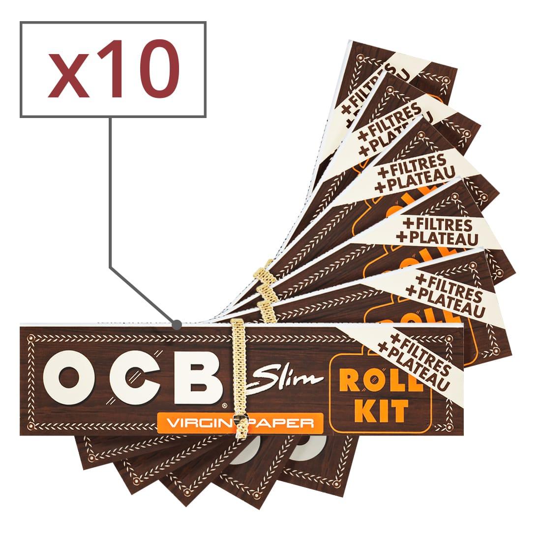 Photo de Papier à rouler OCB Slim Virgin Roll Kit x 10