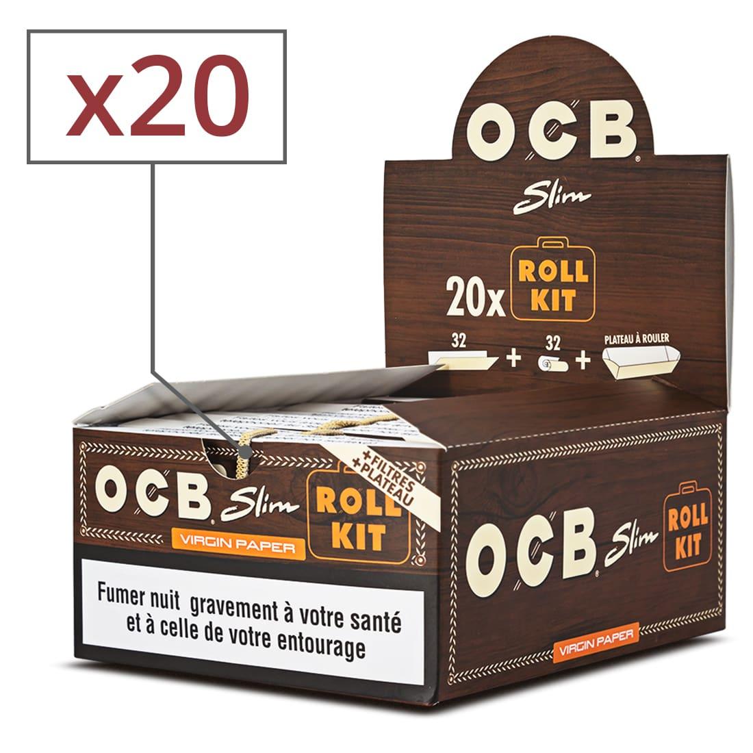 Photo de Papier à rouler OCB Slim Virgin Roll Kit x 20