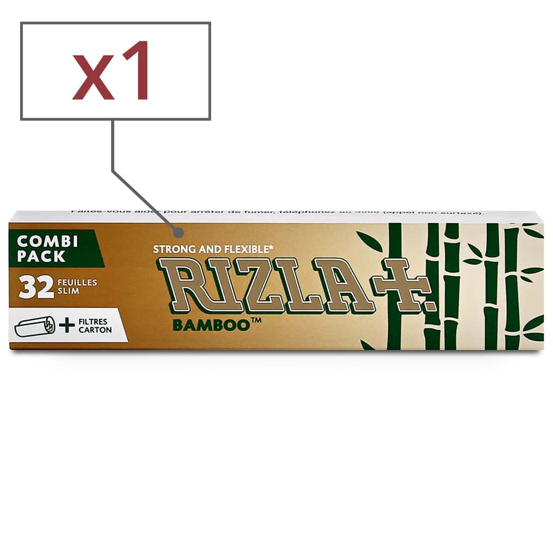 Photo de Papier à rouler Rizla + Bamboo Slim et Tips x 1