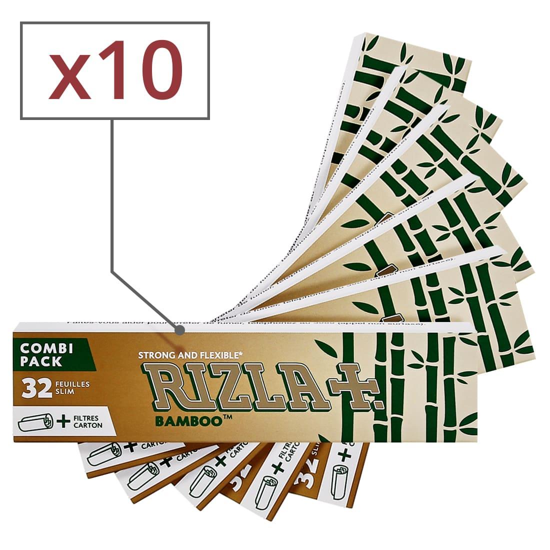 Photo de Papier à rouler Rizla + Bamboo Slim et Tips x 10