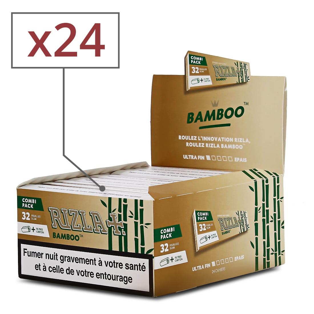 Photo de Papier à rouler Rizla + Bamboo Slim et Tips x 24
