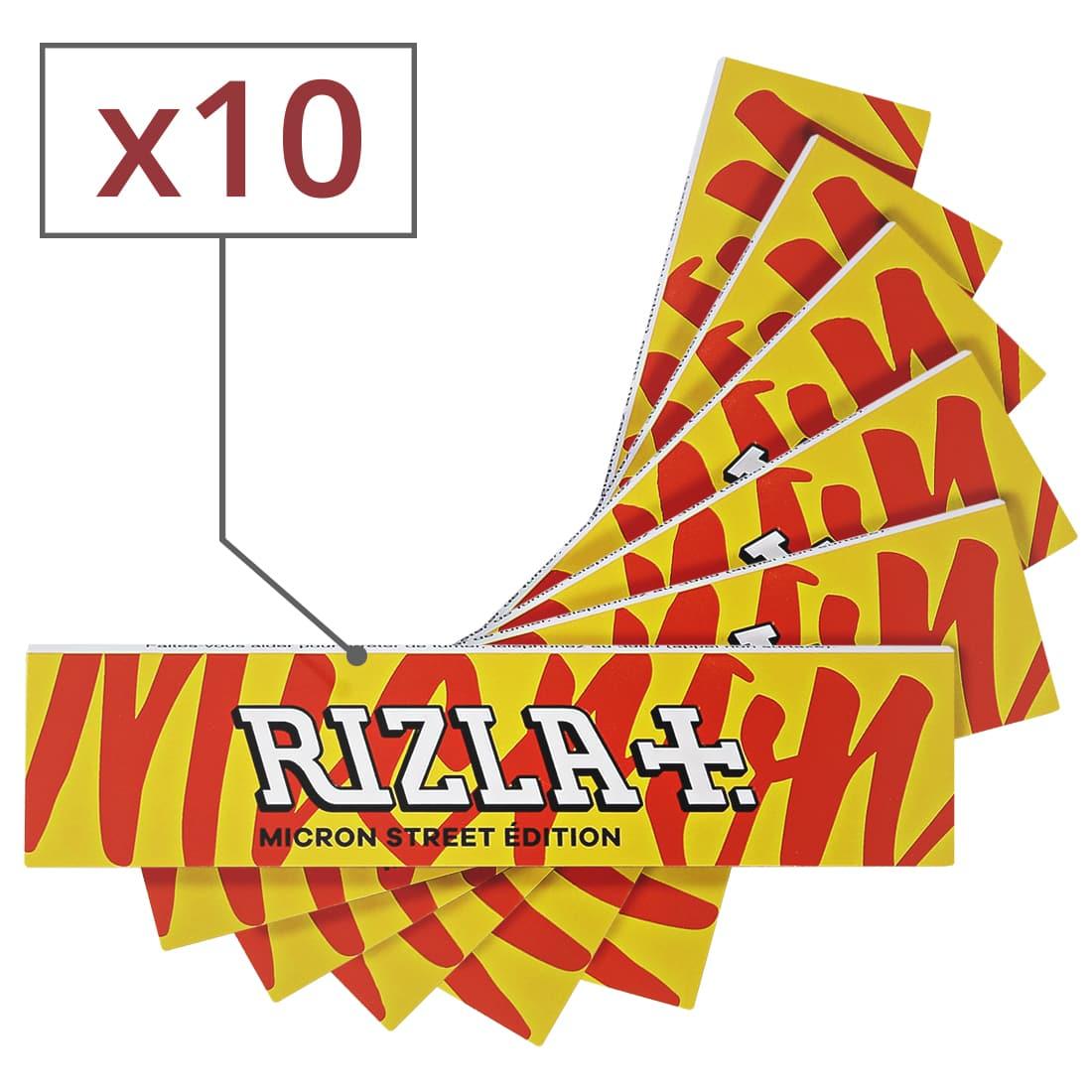 Photo de Papier à rouler Rizla + Micron Slim Street Edition x 10