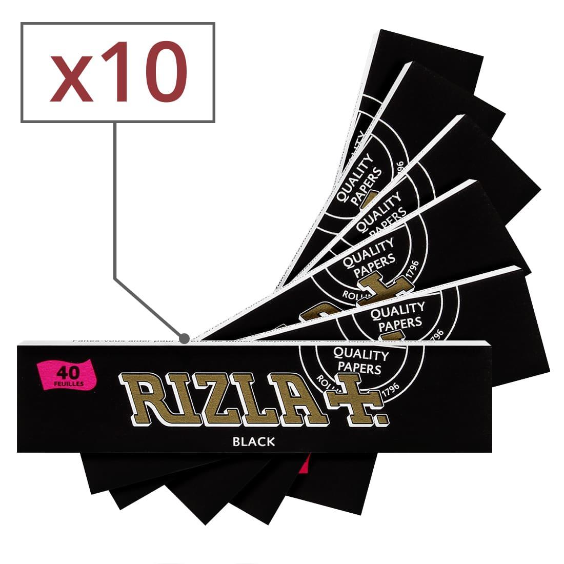 Photo de Papier à rouler Rizla Black Slim x10