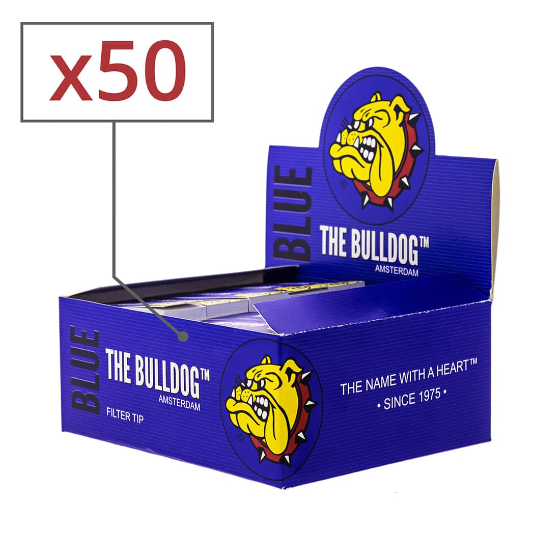 Photo de Filtres en carton The Bulldog x 50