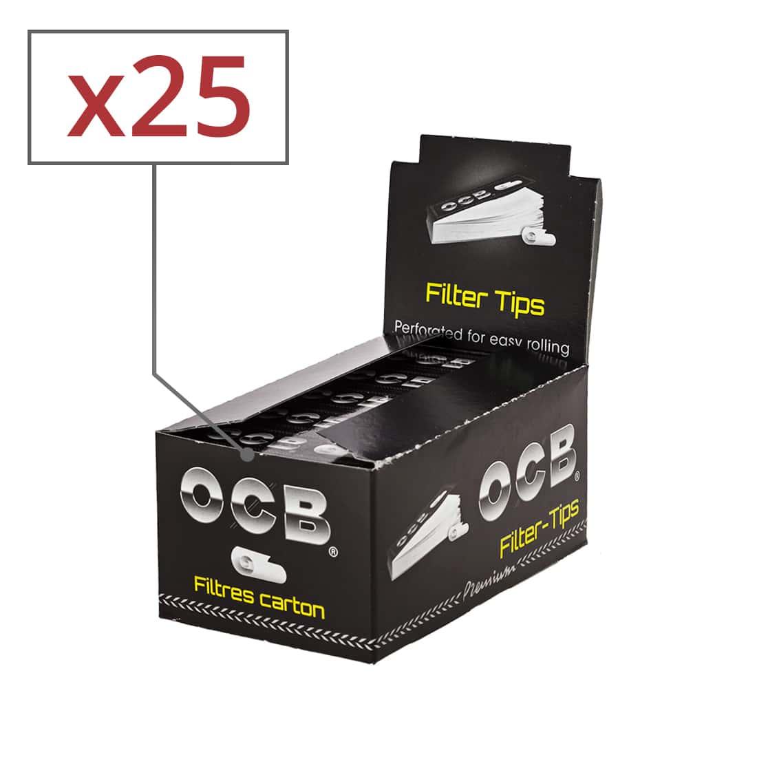 Photo de Filtres en carton OCB perforés x 25