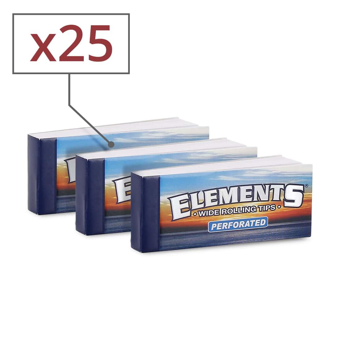 Photo de Filtre carton Elements Large Perforé x 25