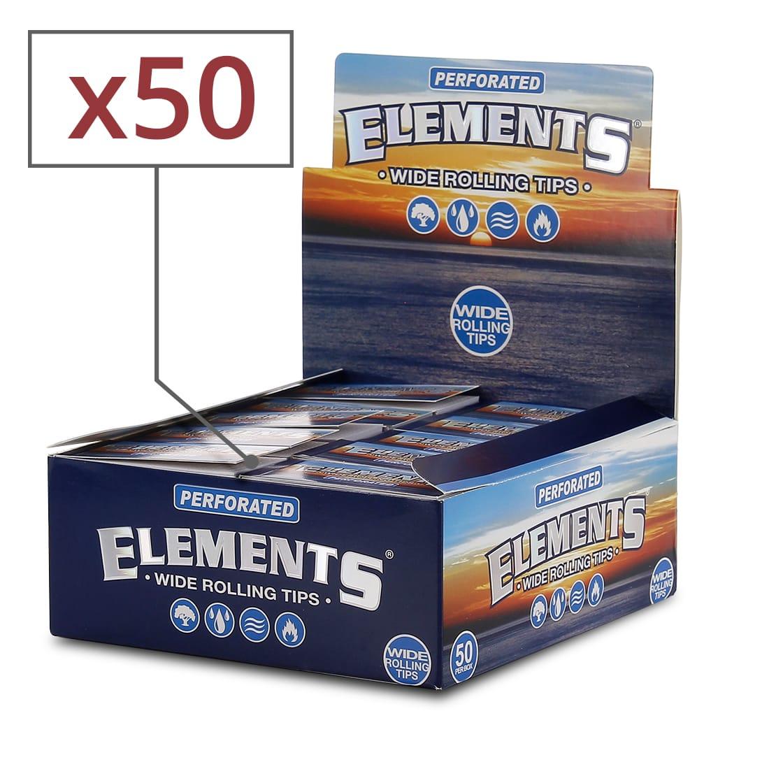 Photo de Filtre carton Elements Large Perforé x 50