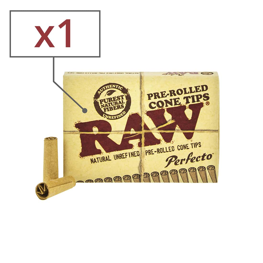 Photo de Filtre carton Raw Cône pré-roulé x 1