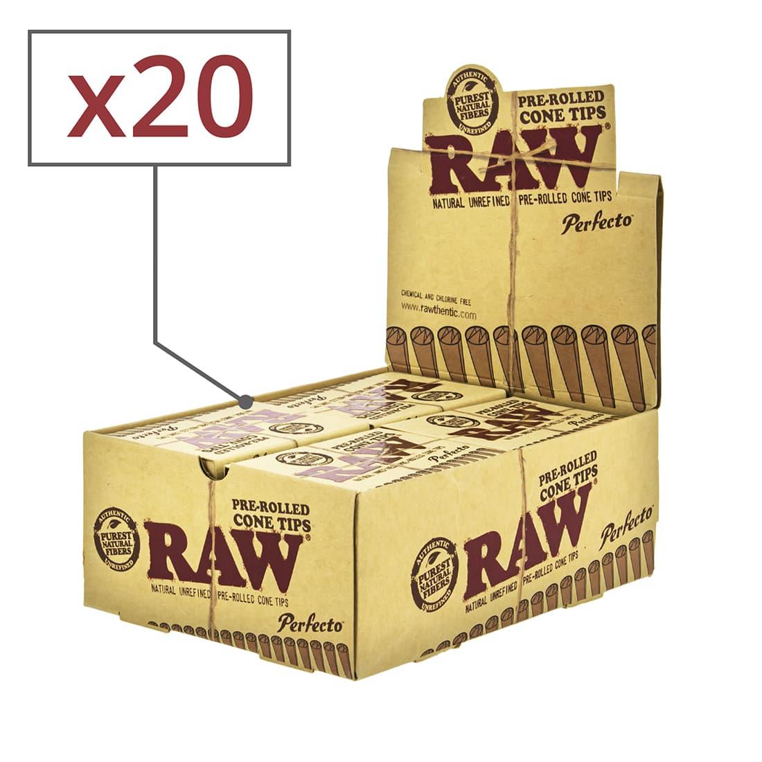 Photo de Filtre carton Raw Cône pré-roulé x 20