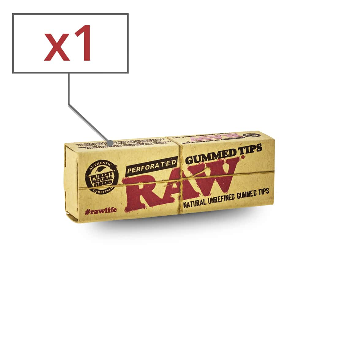 Photo de Filtres en Carton Raw Gummed Perforés x 1