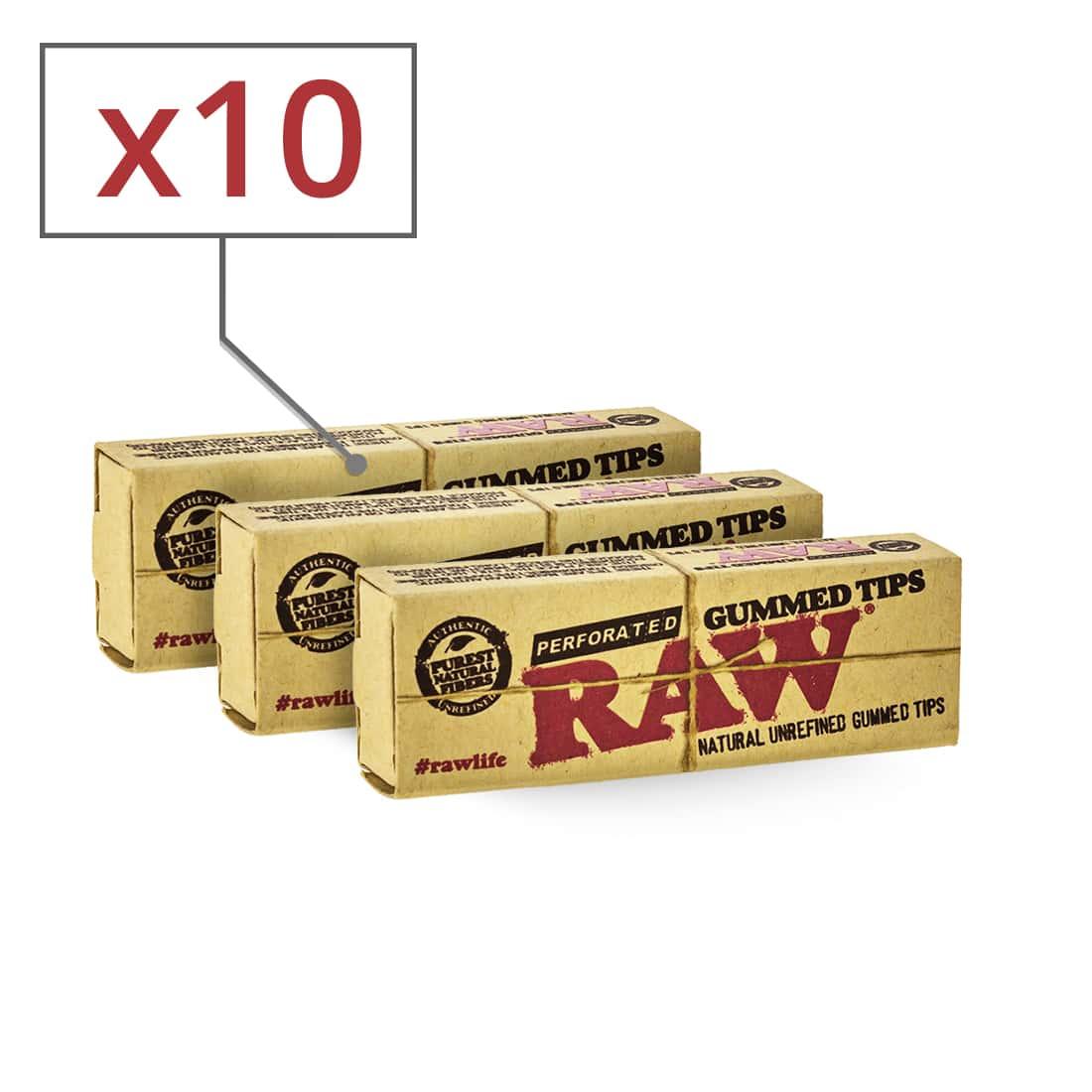 Photo de Filtres en Carton Raw Gummed Perforés x 10