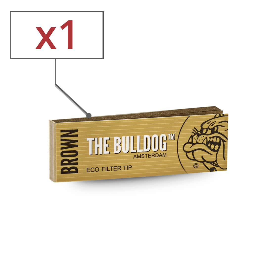 Photo de Filtres carton The Bulldog Brown x 1