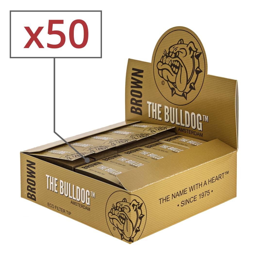 Photo de Filtres carton The Bulldog Brown x 50