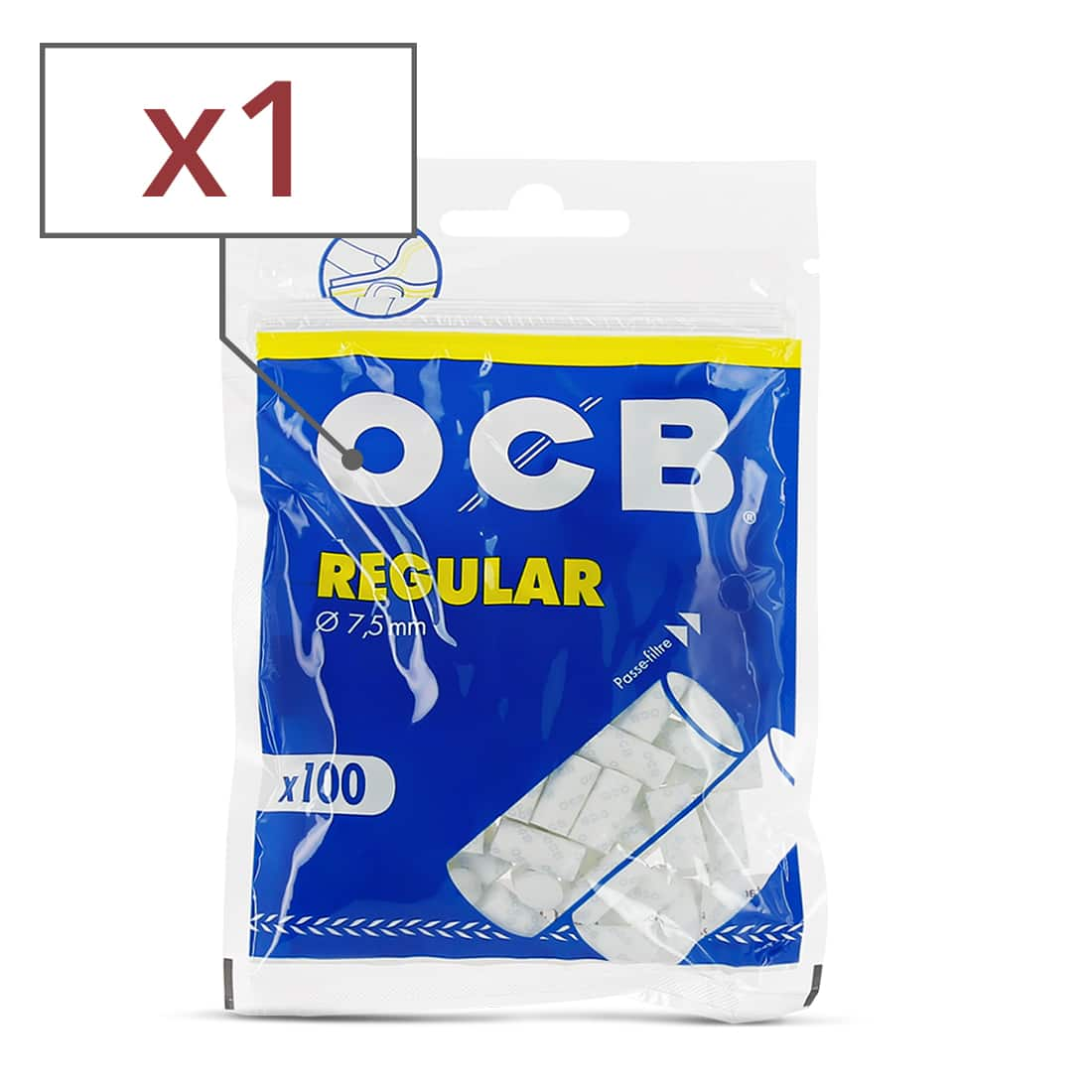 Photo de Filtres OCB Régular x1 sachet